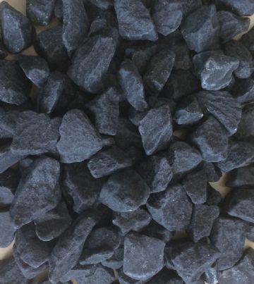 Decorative COLOURED Stones Pebbles Gravels LARGE - MIDNIGHT BLACK